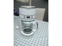 Coffee maker, lovely modern white coffee maker, only used twice. Complete with user manual.