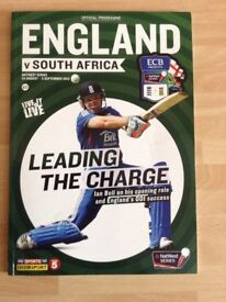 Official Programme of the England v South Africa One Day International in 2012