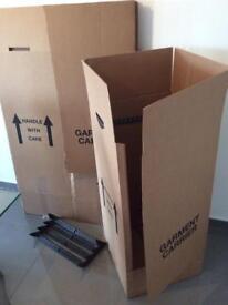 5 x Heavy Duty Cardboard Garment Carriers | Wardrobe | Removals