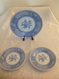 Spode Blue Camilla plates
