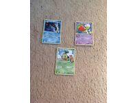 Pokemon cards-3 rare sp