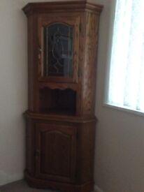 Medium oak corner unit