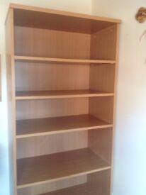 solid wood beech effect bookshelf