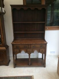 SOLID OAK DRESSER BY TITCHMARSH & GOODWIN MADE IN 1950's