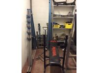 Exercise benches and other gym equipment