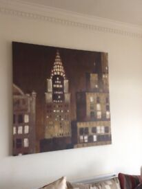 Very large canvass of the Chrysler building New York