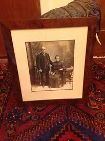 Antique framed photograph