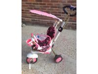 Baby Girls SmarTrike Salmon Pink & Brown, Excellant Condition