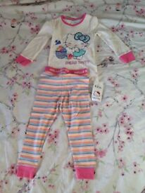 Hello kitty marks and Spencer's pj's 2-3 years new with tags