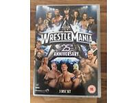 Wrestle Mania 25th Anniversary DVD. 7 hours 12 minutes running time.