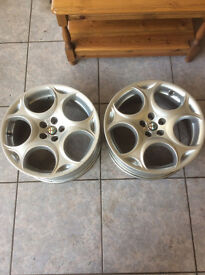 2x Alfa Romeo Alloy Wheels 7Jx17H2