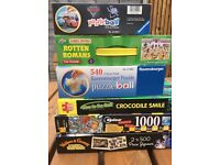 Jigsaw puzzles x 6, includes puzzle balls and glow in the dark