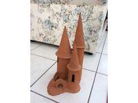 An ornamental terracotta castle
