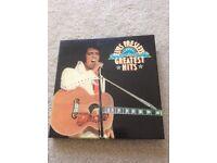Boxed Elvis Presley records