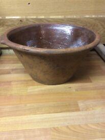 Very old farmhouse style bowl, slight damage hence price