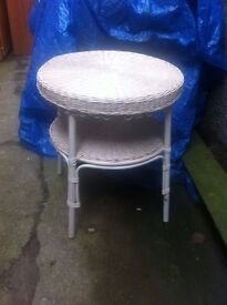 Retro,Vintage,round 2 tier loom table