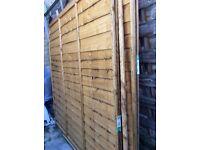 Garden wooden fence panels 6x6 new
