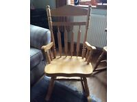 Little used Pine rocking chair