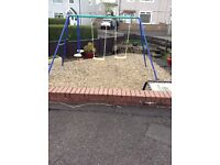 Garden swing set / dismantled