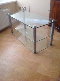 Fenwicks Glass TV Stand.