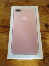 Brand new I phone 7 rose gold