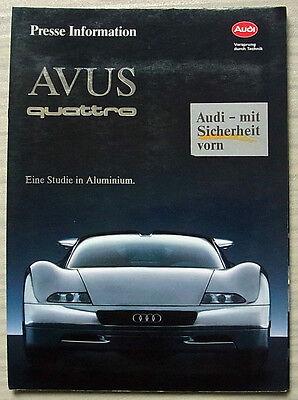 AUDI AVUS QUATTRO Aluminium Car Press Pack Media Photos March 1992