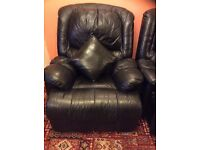 Original Leather recliner sofas 3+2 in excellent condition
