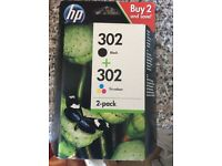 Hp ink cartridge for sale 302 black and color.