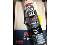 Fixall Soudal silicone sealant adhesive fixing weatherproofing. BARGAIN.....