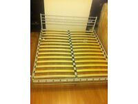 Wight metal super king size bed
