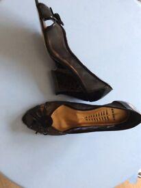 Bronx black ladies shoes