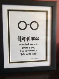 New framed Harry Potter gift