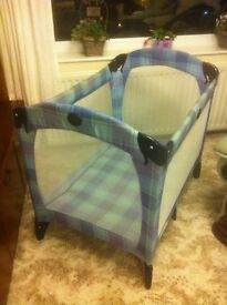 GRACO CONTOUR TRAVEL COT - Little used. Very Good Condition.
