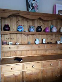 Beautiful pine dresser. 183 cms W x 193 cms H x 43 cms D