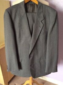 Burtons grey suit - wool/polyester mix - quality clothing
