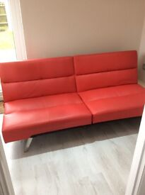 Immaculate Red Click-Clack Sofa Bed