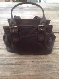 Gigi brown leather handbag