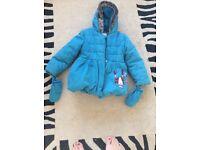 Girls coat age 5-6 years m&s