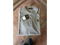 Lyle and Scott Grey Polo Shirt Size Large New with Tags