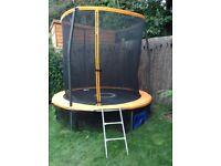 8ft trampoline, anchor kit,ladder and skirt
