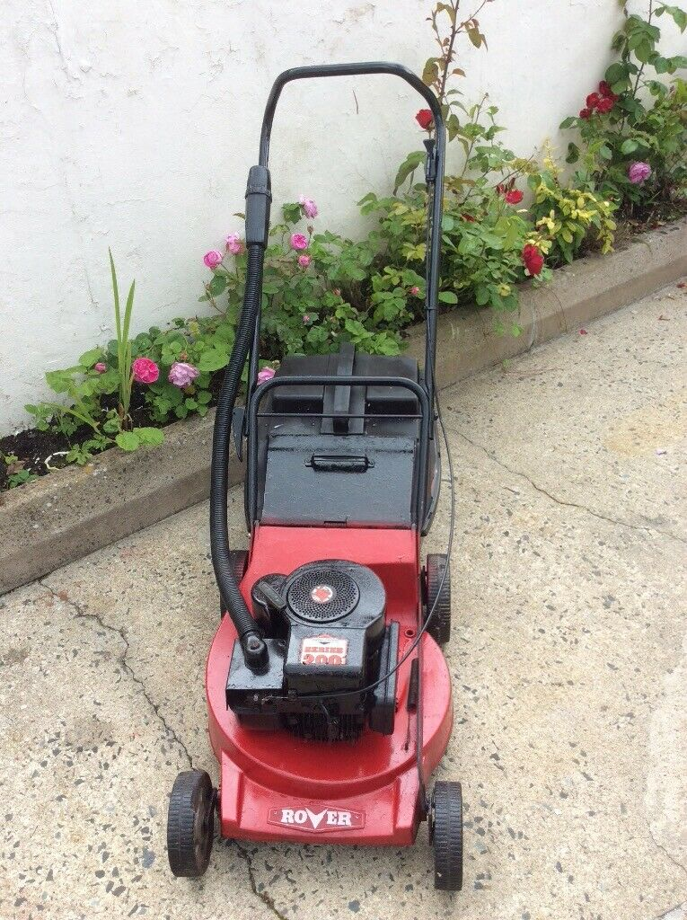 Rover Petrol Push Lawnmower Briggs Stratton 200 Series Engine 19 Cut Aluminum Deck Good Reliable In Ballynahinch County Down Gumtree