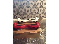 2 x smart hoverboards / Segway with Bluetooth in red and white