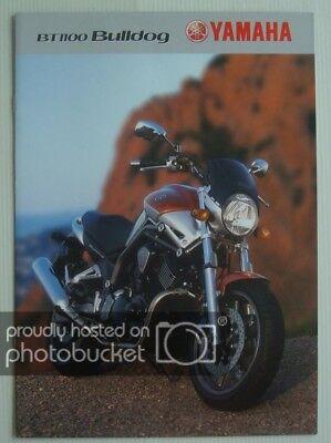 YAMAHA BT 1100 Bulldog Motorcycle Sales Brochure c2003 #3MC-BT 1000BRO-03E