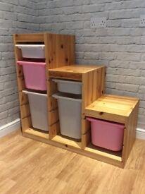 Ikea Trofast storage with boxes