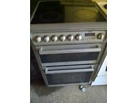 Silver Electric cooker ceramic 60cm...Mint free delivery