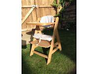 Hauck beta Wooden Highchair - Excellent condition