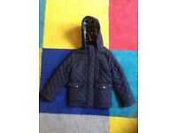 Boy's Navy Quilted Jacket age 7-8 £10.00