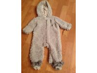 BRAND NEW BABY ALL IN ONE FLEECE - Size 3/6 Months
