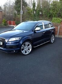 Audi Q7 4.2 blue new wheels/tyres