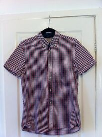 Men's NEXT red checked shirt - Size SMALL